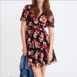 Madewell summery floral print dress, size 4